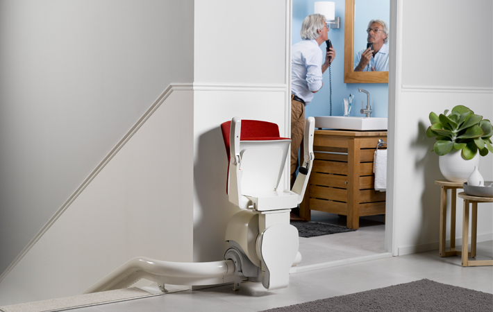 Specially made stairlift for narrow stairs